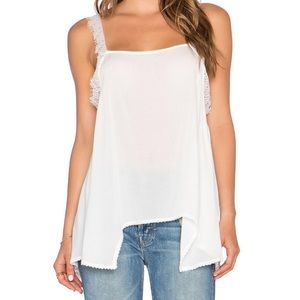 Free People Intimately Lace Trim Tank Top